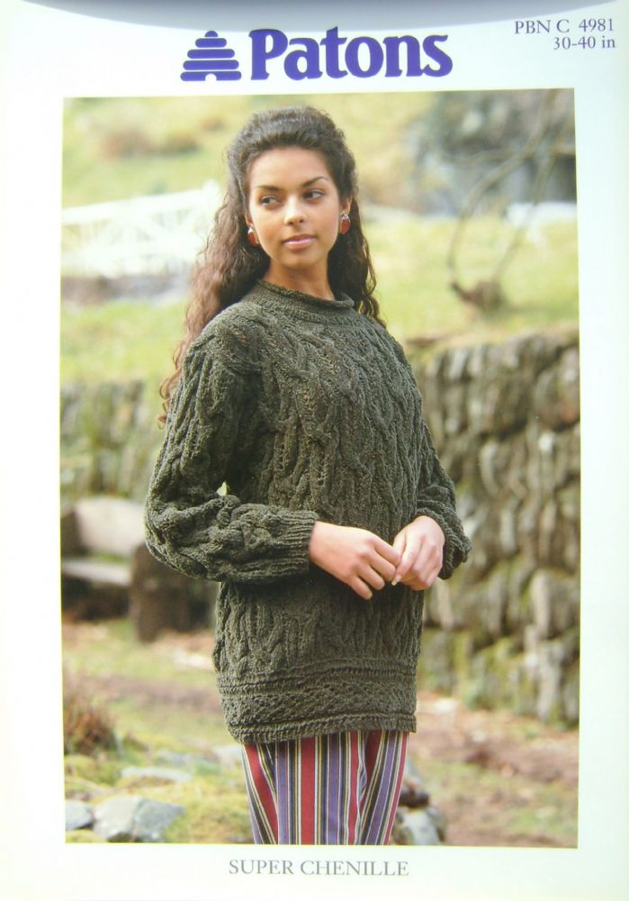 Patons Knitting Pattern 4981